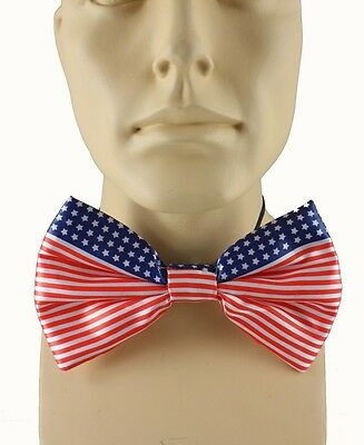 Patriotic Flag Costume Bow Tie Satin Uncle Sam Stars And Stripes Bow Tie