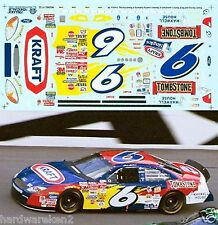 NASCAR DECAL # 6  KRAFT TOMBSTONE BUD SHOOT OUT 2002 FORD TAURUS SLIXX