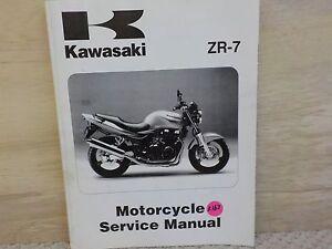 Kawasaki 1999 2000 2001 2002 Zr7 Factory Service Manual K163 Ebay