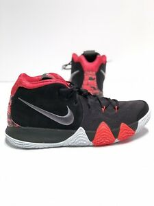 new photos 8d674 442d3 Details about Nike Men's Kyrie 4 Basketball Sneakers Suede Black Dark Grey  Red Size 13 NWB