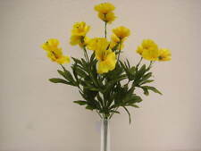 "YELLOW Poppy Bush Artificial Silk Flowers 18"" Bouquet 9-6130YL"