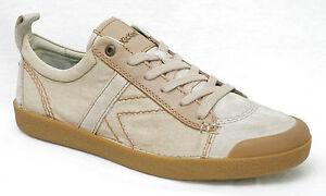 05fea190ee8b16 KICKERS TRIBAL baskets homme cuir et toile beige taille 45 | eBay