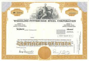 Granite City Steel Company Stock Certificate