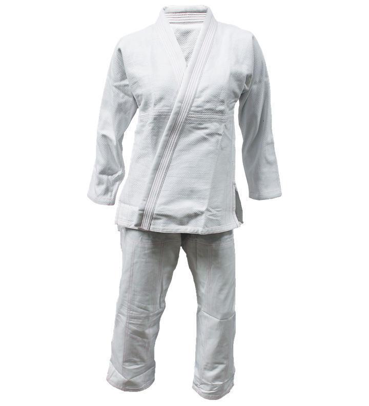 Pink Jiu Jitsu Gi for Womens - WHITE PINK, 100% Cotton Diamond Weave Preshrunk.
