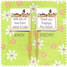 20 PERSONALISED PRE SCHOOL NURSERY TEACHER THANK YOU CUP CAKE FLAG Pick Topper