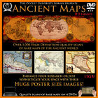 Ancient Maps Old World Map Atlas Geography Large digital images on 4 DVD's