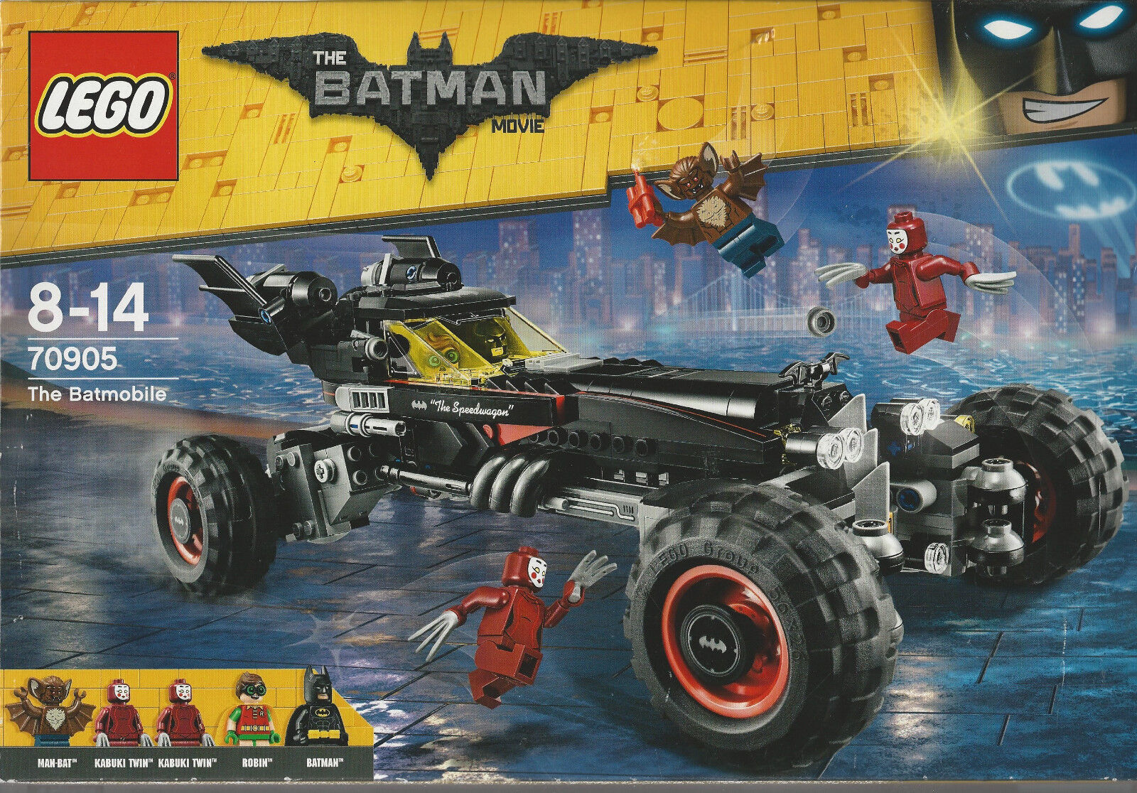 LEGO THE BATMAN MOVIE 70905 THE BATMOBILE New 5 minifigures MAN BAT KABUKI TWIN