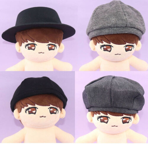 20cmKpop EXO Plush Doll Hat Knitted Cap Beret Hat Peaked Caps Doll/'s Accessories