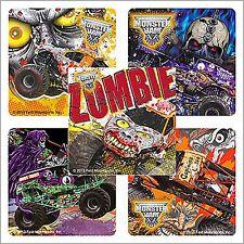 Monster Jam Stickers x 15 - Birthday Favours - Gravedigger - Zombie - Trucks