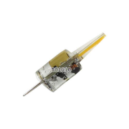 1x//10x G4 LED Light 2W COB 1505 Silicone Bulb Lamp 12-24V Warm White