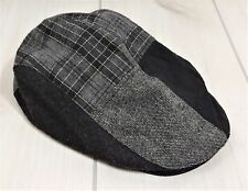 Dockers Plaid Ivy Hat Fold Down Ears Wool Grey Golf Cap Size S/M