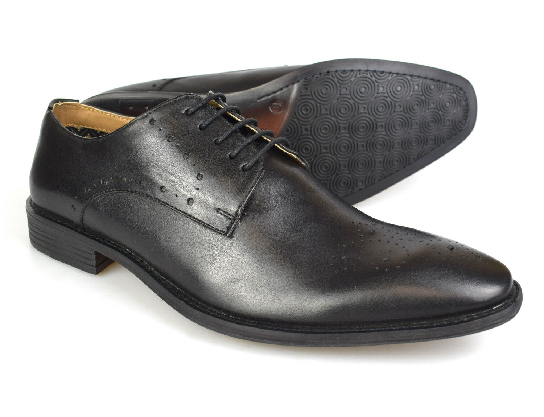 Premium Noir Hommes Chaussures Richelieu Cuir 1830B