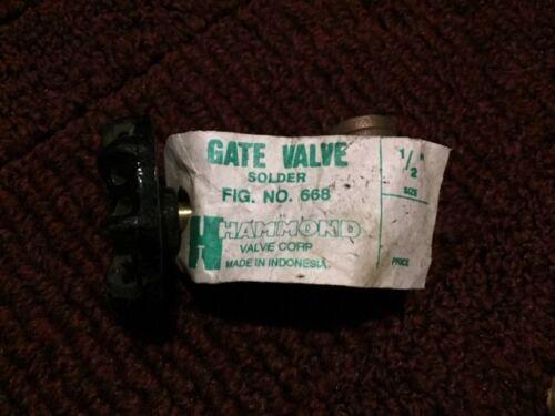 """hammond 668 wog 200 1//2/"""" inch gate valve"""