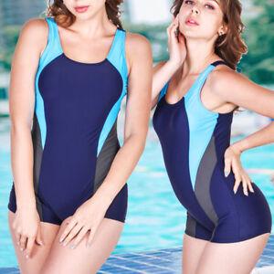 9b34583f01 2018 New Ladies Long Leg Swimsuit Boyleg Swimming Costume Swimmers ...