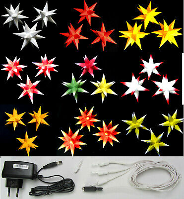 3D Adventsstern 3x kleine Sterne orange Weihnachtsstern innen Advent Erzgebirge