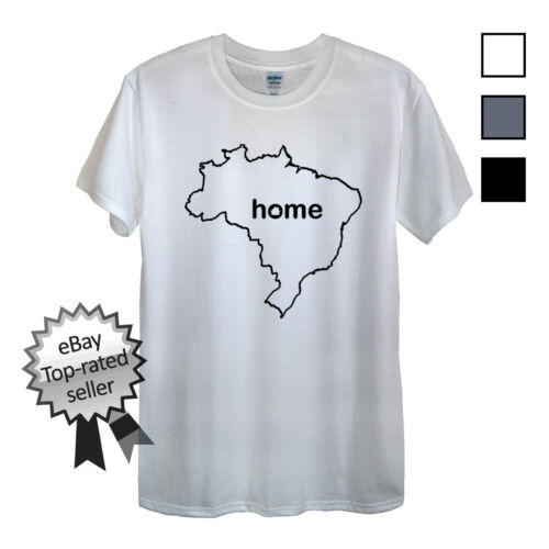 BRAZIL HOME T-Shirt FIND YOUR OWN Country Men OR Women/'s Fitted Brazilian Gifts