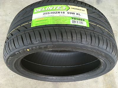 NEW 255 40 18 Delinte Thunder D7 series high performance tire