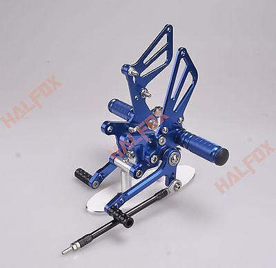 Blue CNC Adjuster footrest Racing Rearset for Suzuki SV650 SV650S SV1000 S