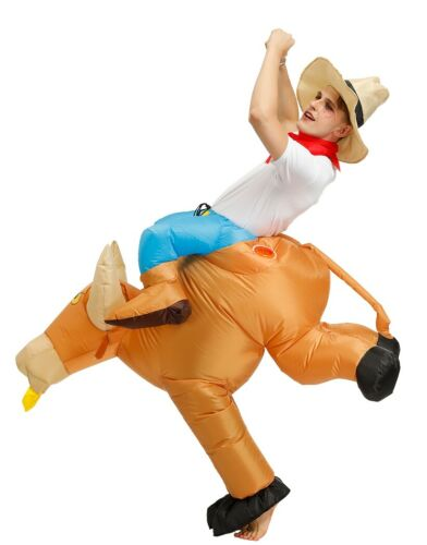 Details about  /Mens Inflatable Bull Rider Cowboy Costume Matador Spanish Bull Fighter Halloween