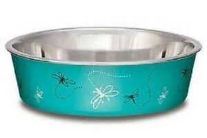 Loving Pets BELLA BOWL Stainless Steel Dog Feeder Bowl DRAGONFLY