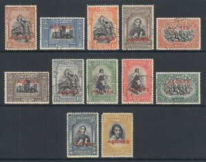Azores-Sc-272-283-used-1927-red-ACORES-overprints-complete-set-sound-F-VF