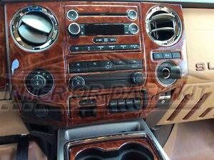 2013 2014 2015 2016 Ford F250 F 250 F350 F 350 Interior Wood Dash Trim Kit Set Ebay