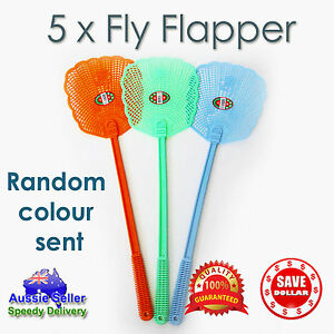 5pcs-Fly-flap-Plastic-Swatter-Flexible-Mosquito-Insect-Killer-Trap-Bug-Catcher