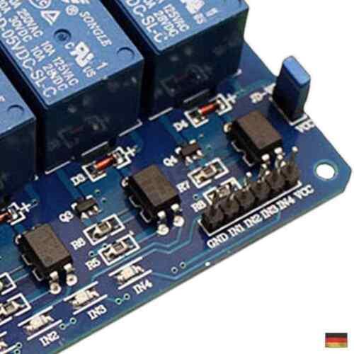 4 Kanal Relais 5V//230V Raspberry Pi Optokoppler Modul Channel Relay Arduino