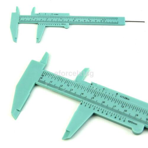 Hot 6Inch 150mm Plastic Ruler Sliding Gauge Vernier Caliper Jewelry Measuring US