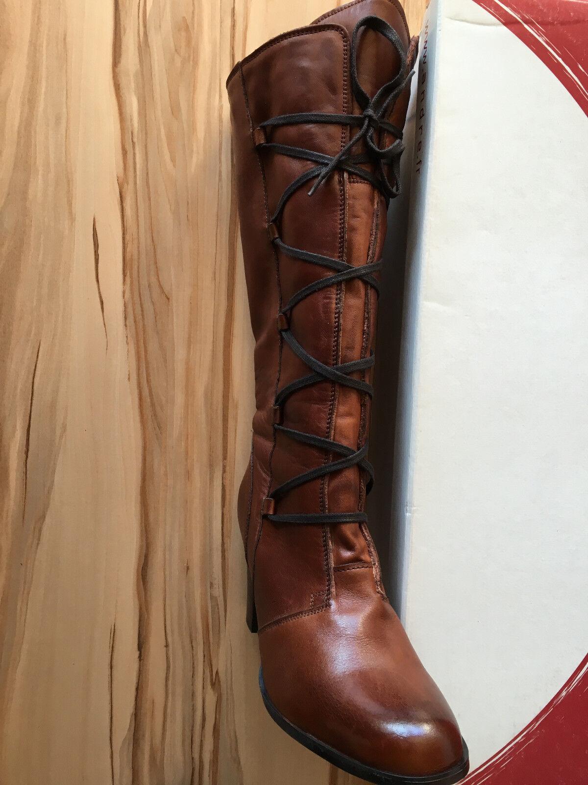 André Leder Stiefel mit Fell Gr. Gr. Gr. 39 40, Braun, Neuwertig    Erlesene Materialien  c27c92