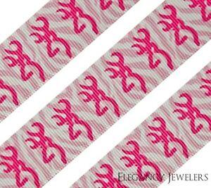 "High Quality 7//8/"" Browning Heart Camo Printed Grosgrain Ribbon Hair Bow"