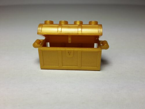 LEGO Pearl Gold Container Pirate Treasure Chest //NEW