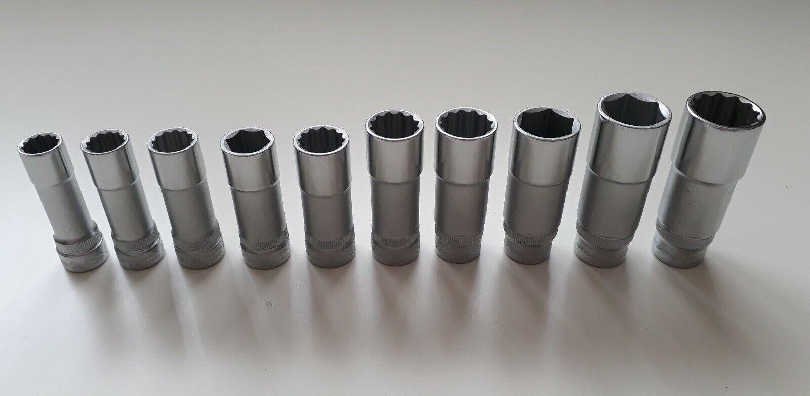 HAZET 3 8 Zoll Steckschlüssel-Einsatz Lang, 10-19mm, 10 Teilig