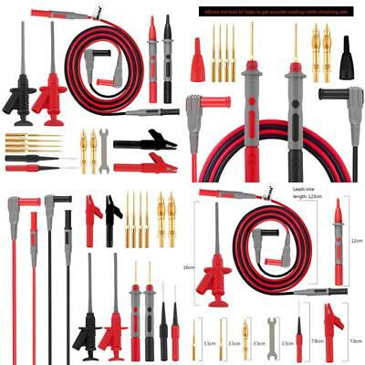 Micsoa Deluxe Electrical Test Lead Kit Digital Multimeter Leads Automotive Test Leads with Alligator Clips Retractable Test Clips Back Probe Pin /& Tips Set of 16