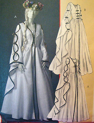 SEWING PATTERN McCalls 4997 RENAISSANCE DRESS LOTR sz 6-12 Bust 30.5-34 Costume