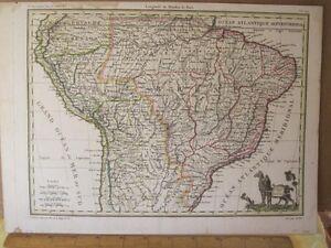 Vintage-Print-PEROU-ET-BRESIL-Lapie-1812