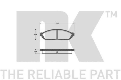 NK 4x Bremsbeläge Bremsbelagsatz Vorne