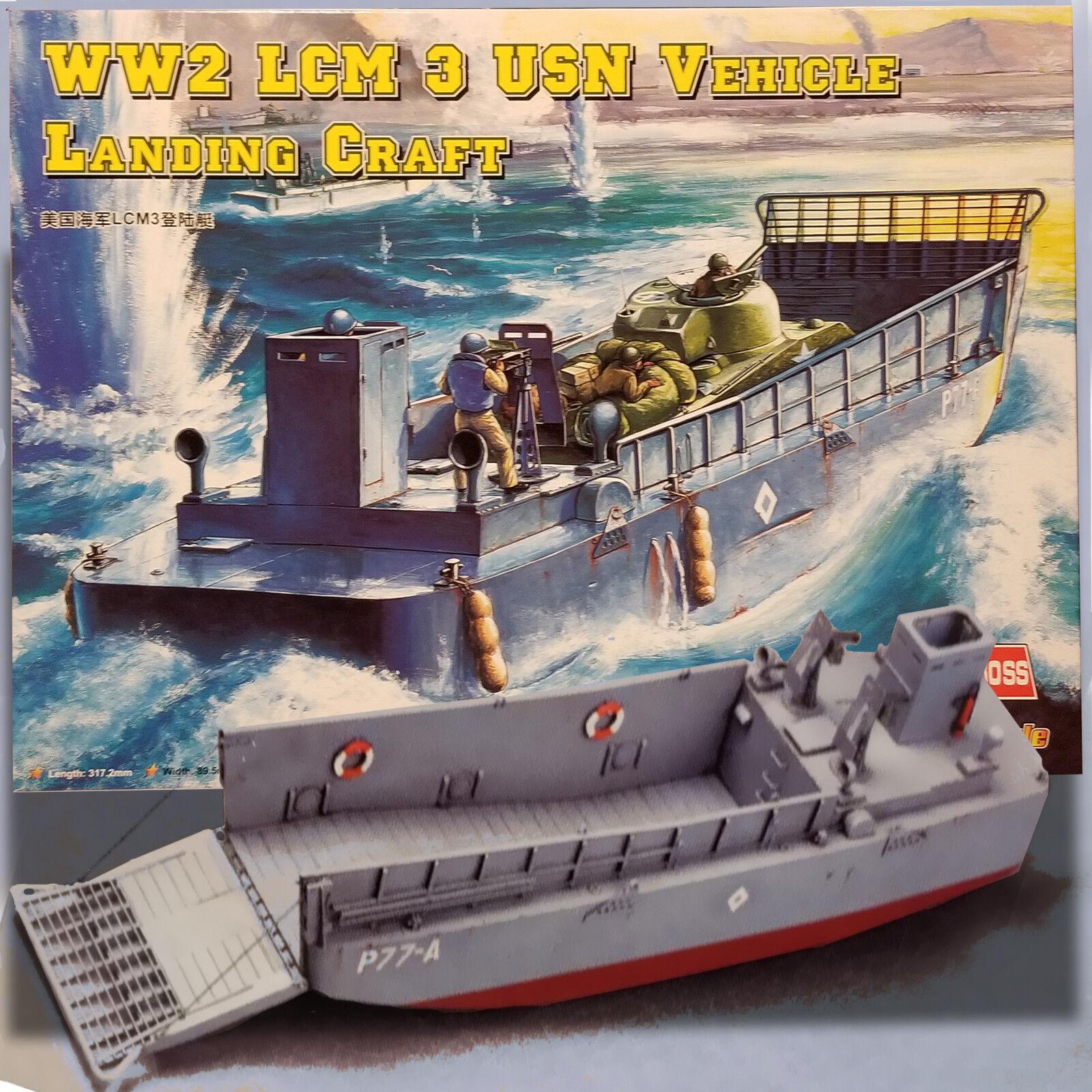 HOBBY BOSS 1 48 WW2 LCM 3 USN LANDING CRAFT KIT 84817