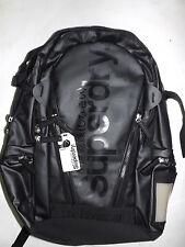 SUPERDRY CLASSIC TARP TARPAULIN backpack - New - Black - Japan Exclusive