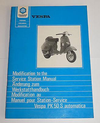 Änderung zum Werkstatthandbuch Vespa PK 50 S automatica