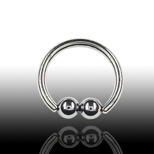 1.6mm piercing doble-klemmkugel anillo Intim tabique pecho piercing oreja