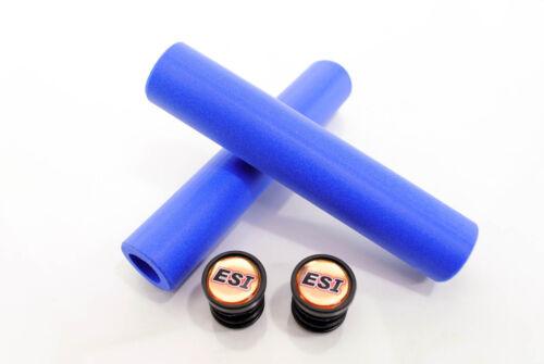 ESI Racer/'s Edge Mountain Bike 130mm Silicone Handlebar Grips Blue