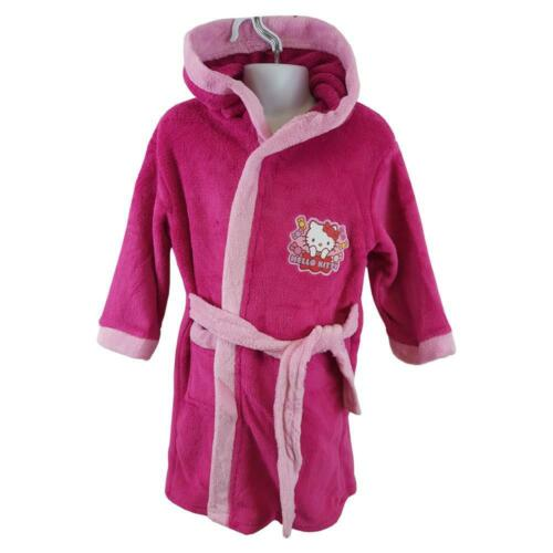 Girls Hello Kitty Character Hooded Bathrobe Sizes from 3 to 8 years