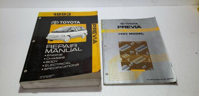 1993 Toyota Previa Shop Service Electronic Wiring Diagram ...