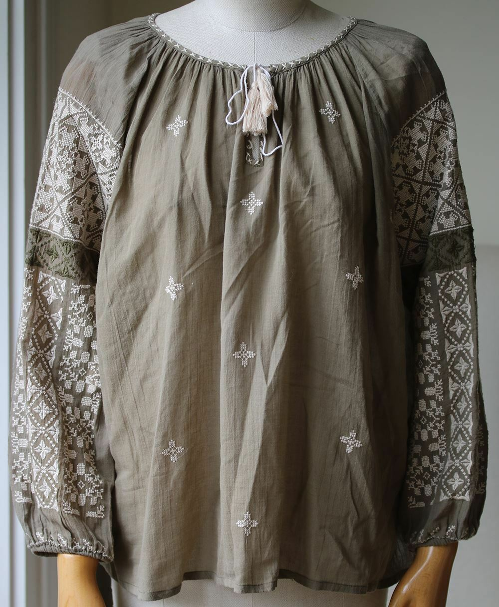 NILI LOTAN MALO BOHO EMBROIDErot TOP MEDIUM