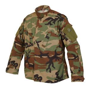 Woodland-Camo-ACU-Tactical-Response-Uniform-Men-039-s-Shirt-by-TRU-SPEC-1274