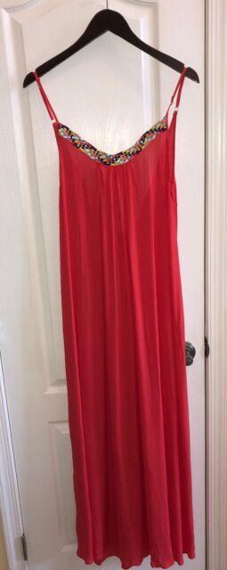 09c719a6b4 NWT  165 Red Carter Friendship Bracelet Maxi Dress Swimsuit Cover-Up  Women s S