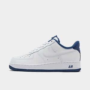 Details about AUTHENTIC NIKE AIR FORCE 1 `07 Low White Deep Royal White  CD0884 102 Men size