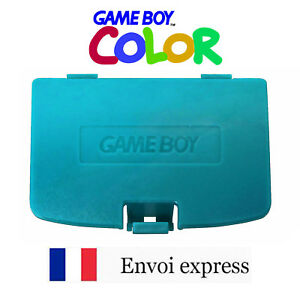 Cache Pile Turquoise Bleu Game Boy Color Neuf Battery Cover Gameboy