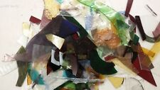 1.8kg Stained Glass Offcuts for mosaics, jewelry making small pieces textured